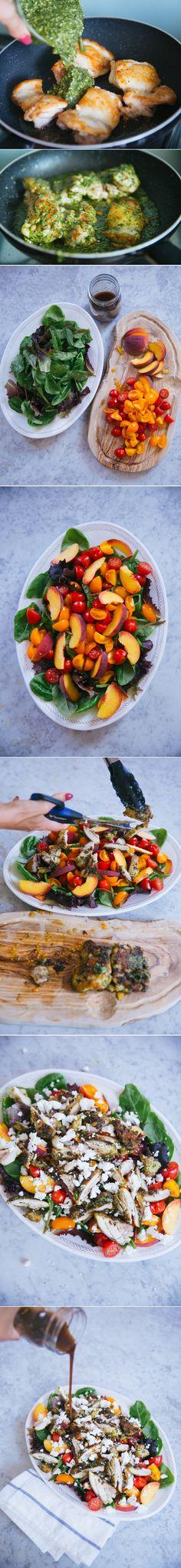 {Lazy} Pesto Chicken Salad - The Londoner; just use vegan pesto!