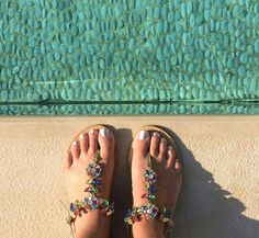 Bright  and  colorful customers around the world. www.deasandals.com  Handmade  jewel  sandals  #capri  #sandali #jewelsandals #custom #outfit #sea #caprisandals #sandaligioiello #fashion #colors #shoes #woman #handmade #madeinitaly #sandals #infradito #fashionweek #luxuryshoes #bloggers #fashionblogger #style #italianstyle #tailormade #beach #summer #magazine #vogue  #accessory #sandalicapresi #deasandals #shop #shopping #sposa #wedding #fashionstyle