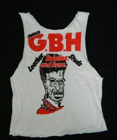 d427bd8e2 Vintage 80S CHARGED G.B.H. T-Shirt gbh punk rock band tour Horror Movie T  Shirts