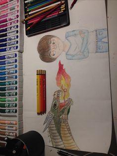 ik heb het vuur getekend en het ging beter dan ik dacht en het id precies zo als ik wou omdat het tussen cartoon en real life in zit