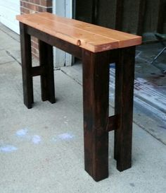 Primitive Sofa Table Built By My Husband =) <3