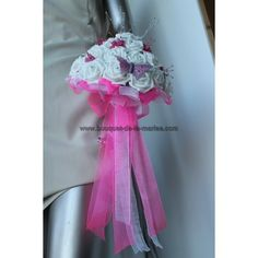 Bouquet Champetre, Marie, Artificial Flowers, Rhinestones, Butterflies, Beads