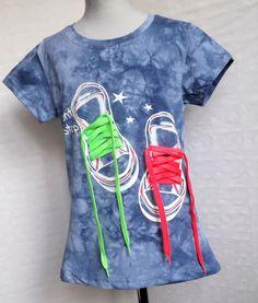 Kinder Mädchen  T-shirt mit Jeans Optik  Gr. 128-140