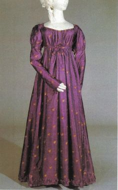 Regency Day Dress.  I love this dress! I'm sort of obsessed with Regency dresses, even though I'm certain they'd look horrible on me.