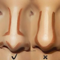 how to contour your nose. Keep in mind there are so many ways to contour your nose depending on the shape of your nose and sometimes you may have a great nose you may not even need contour.