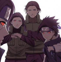 Naruto art from Pixiv - Uchiha family / Uchiha Sasuke, Uchiha Itachi, Uchiha Mikoto and Uchiha Fugaku Itachi Uchiha, Naruto Shippuden Sasuke, Uchiha Fugaku, Madara Susanoo, Kakashi, Narusasu, Gaara, Anime Naruto, Naruto Fan Art