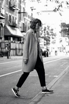 #oversized #coat w/ #nikes