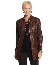 Travelers Collection Metallic Duster (just the jacket)