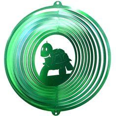"12"" Turtle - Green Starlight Wind Spinner. #turtle #windspinner #green"