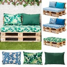 Designer Prints Euro Pallet Seating Cushion Pads Garden Patio Outdoor Furniture  | eBay