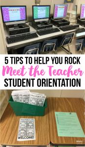 """5 Tips to Your Best """"Meet the Teacher Day"""" Ever! top 5 tips to help you rock your back to school, meet the teacher, student orientation. Including an editable booklet to walk families through back to school step by step! Back To School Night, 1st Day Of School, Beginning Of The School Year, School Starts, Back To School Teacher, School School, Middle School, Teacher Tools, Teacher Hacks"""