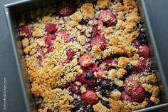 Paleo Cobbler de Frutas Vermelhas