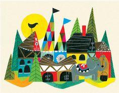Art for kids: Lisa Congdon's Country art print.
