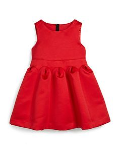 Satin Fit-and-Flare Dress, Red, Size 8-14 by Milly Minis at Neiman Marcus.