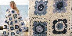 Seaside Blues Style Blanket – Free Crochet Pattern