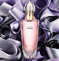 Avon Campaign 26 '16 AVON PRIMA A dramatic blend of elegant plum, intoxicating rose and intense white patchouli that lasts all day. Prima is a lovely, light scent, strong yet delicate – like the ballerinas who inspired it.