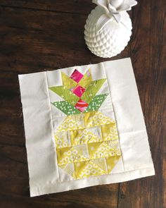 Create this Candied Pineapple block with Anneliese from Eye Candy Quilts on the fabric.com blog!