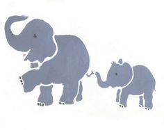 Elephant Stencil, Mother And Baby, Baby Elephant, Screen Printing, Stencils, Elephants, Image, Home Decor, Screen Printing Press