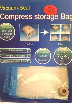 Vacuum Seal Travel Bags Vacuum Seal Bags for Clothes Sturdy Plastic Bags…