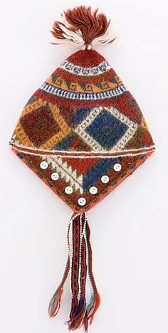 Peruvian Handknitted, Beaded Trim Hats  or ch'ullo, are masterful handknits from the village members of The Center for Traditional Textiles of Cusco (CTTC) in Peru. Made of fine-gauge, naturally-dyed alpaca with exquisite design and detailing,including button embellishments andbeaded bands. They are knit in-the-round using needles made of wire or bicycle spokes. $50.00 — $51.00