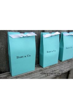 Tiffany & co baby shower favor idea....OMG!!!!!! PERFECT for a baby girl shower!!!!