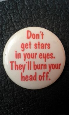 Deadstock '80s Pinback Button Unworn Don't get by LowSparkVintage