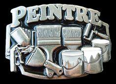 PEINTRE FRENCH PAINTER PAINT BRUSH PAINTING  BELT BUCKLE BELTS BUCKLES #Unbranded #peintre #painter #beltbuckle