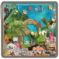 Digital Scrapbooking Kit Hawaiian Party Luau Part A + B (PU/S4H) by Digidesignresort.  FOLLOW MY BLOG TO ORDER http://digitaldesignsbydiane.blogspot.com/