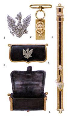Granducato di Varsavia Cavalleria lancieri giberna per ufficiale 1807-1814