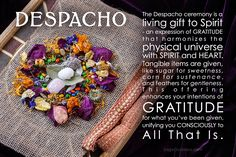 My Despacho Kit is live today in the shop at 10am PST. Join me on April 22nd in a sacred Peruvian ceremony to Mother Earth as we celebrate Earth Day. Read this meme and comment below what offerings you could include in your Despacho.