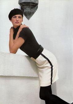 Linda Evangelista for Ralph Lauren, Spring/Summer 1990 Linda Evangelista, White Fashion, 90s Fashion, Style Fashion, Fashion Ideas, Foto Shoot, David Sims, Ralph Lauren Style, Oui Oui