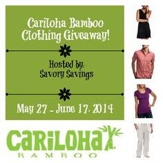 How would you like to win a bamboo clothing item of your choice from Cariloha?