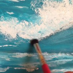 How to paint waves Painting Water - Waves Seascape Paintings, Landscape Paintings, Beach Paintings, Beach Artwork, No Wave, Wave Art, Ocean Wave Drawing, Abstract Ocean Painting, Sea Drawing