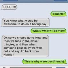 Bahahaha! Best idea EVER!! ≧◡≦