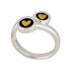 Pandora Ring Silver And Gold Double Heart Description、$43.00