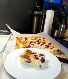Recipe: cheesecake without butter and flour with fruit: 1 pck vanilla sugar . Cakes Without Butter, Low Fat Low Carb, Low Calorie Desserts, Cherry Recipes, Vanilla Sugar, Vegetable Drinks, Healthy Eating Tips, Healthy Nutrition, Creative Food