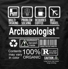 Archaeologist care label