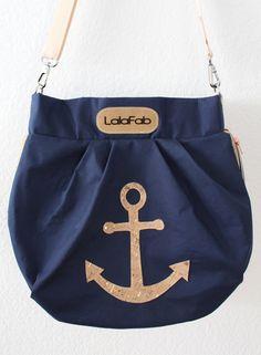 Die Hobo Bag mit Korkelementen - Schnitt von @pattydoo