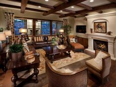 King Ranch Style. It's casual, leather and calm. It says elegant and put your feet up at the same time.