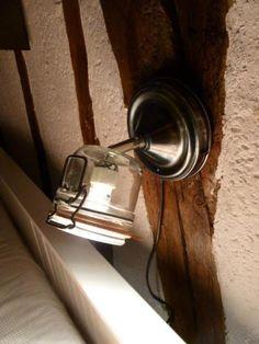 lampe applique bocal recycle Des Lampes fabriquées à partir de bocaux de conserves recyclées                                                                                                                                                                                 Plus