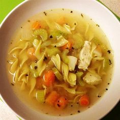 Chicken Broth soup Recipes is One Of the Favorite soup Recipes Of Numerous Persons Round the World. Besides Simple to Make and Good Taste, This Chicken Broth soup Recipes Also Health Indeed. Chicken Broth Soup, Chicken Noodle Soup, Chicken Soup Recipes, Veggie Recipes, Noodle Soups, Veggie Food, Easy Recipes, Quick Easy Meals, Have Time