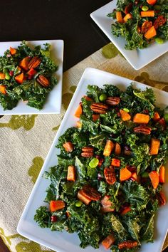 Perfect for the holidays: Kale Salad with Persimmon & Pomegranate @Bryan Shelly Lengel