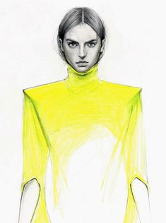 Cedric Rivrain Fashion Drawings- simple drawigs to translate into photoshop Source by izzyindigo fashion drawing Illustration Mode, Fashion Illustration Sketches, Fashion Sketchbook, Fashion Sketches, Fashion Drawings, Portraits, Fashion Portfolio, Mellow Yellow, Yellow Art