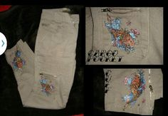 Hand painted cargo pants
