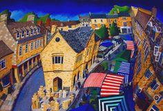 Oundle Market place by Mikki Longley