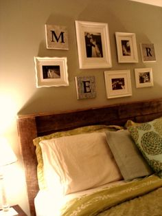 headboard made from a pallet!!! i sooo wanna make one for our bedroom