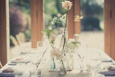 Stylish Rustic Peach & Grey Wedding http://karibellamy.com/