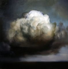 Ambera Wellmann (Nova Scotian, b. 1982 Lunenburg, Nova Scotia) - Cloud #52 Paintings: Oil on Wood