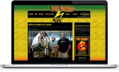 "With the launch of their new album, Bad Brains needed a new site. Additionally, they launched their exclusive ""Merch"" online store.  http://www.badbrains.com/"