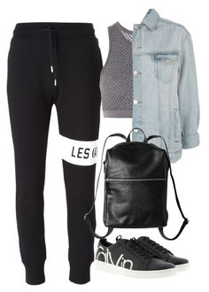 """Untitled #2367"" by rowan-asha ❤ liked on Polyvore featuring LES (ART)ISTS, Topshop, Calvin Klein and Monki"